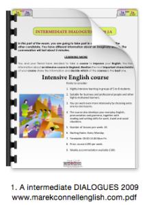 1. A intermediate DIALOGUES 2009 www.marekconnellenglish.com icon