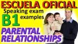 Exámenes Escuela Oficial de Idiomas EOI 2010 Parental relationships